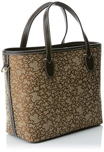 Tous Capazo Pequeño Kaos Mini de Jacquard, Bolso Bolera para Mujer, Marrón (Brown), 13x20x29 cm (W x H x L)