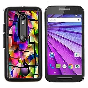 YiPhone /// Prima de resorte delgada de la cubierta del caso de Shell Armor - Mezquita Azulejos púrpura colorida del patrón - Motorola MOTO G3 / Moto G (3nd Generation)