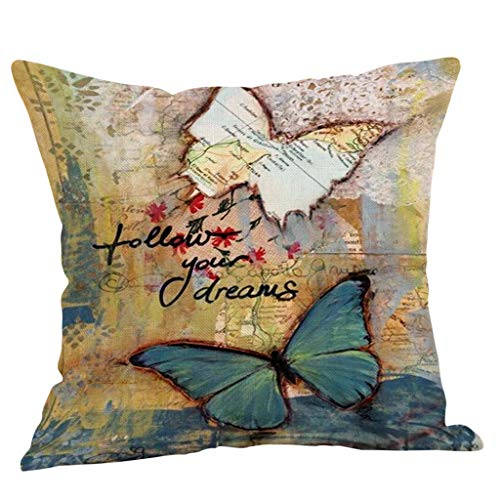AOJIAN Home Decor Cushion Cover, Vintage Style Decorative Throw Pillow Covers Protectors Bolster Case Pillowslip - Pillow Bolster Euro Sham