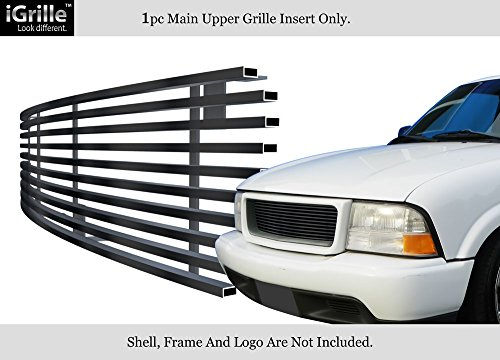 Gmc Sonoma Billet Grille - APS Fits 1998-2003 GMC Jimmy/S-15 Pickup/Sonoma Stainless Black Billet Grille #G85046J