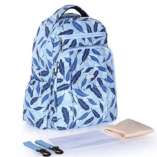 BigForest Maternity Multifunctional Mummy Large capacity Backpack Travel Tote Bag Baby Diaper Handbag Nappy Changing Bag sky blue Sky blue