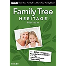INDIVIDUAL SOFTWARE Family Tree Heritage Platinum 15
