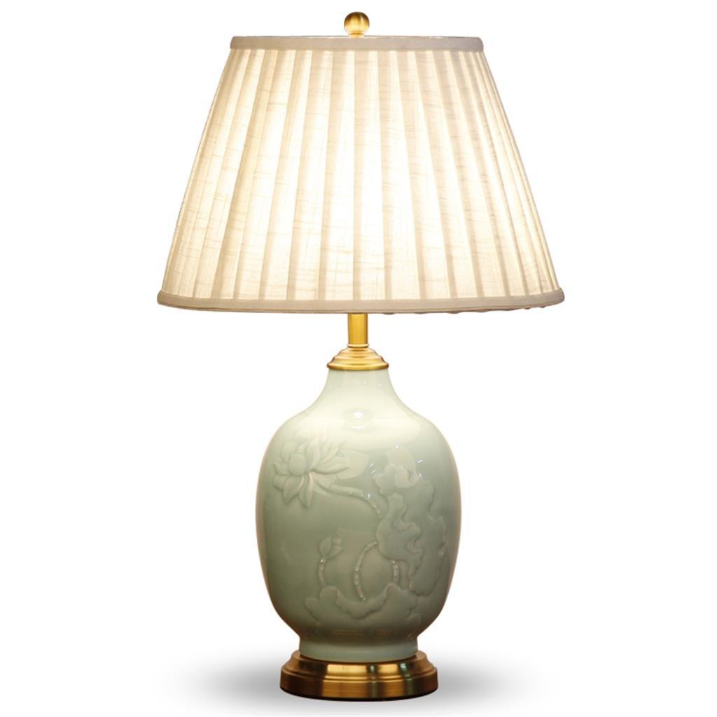 Moderne chinesische Keramik-Lampe Lotus Wohnzimmer Studie der kreativen klassischen Schlafzimmer Nachttischlampe