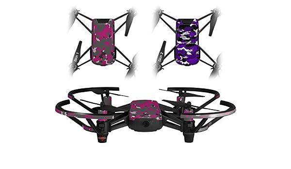 Skin Decal Wrap 2 Pack for DJI Ryze Tello Drone WraptorCamo Digital Camo Purple Drone NOT Included