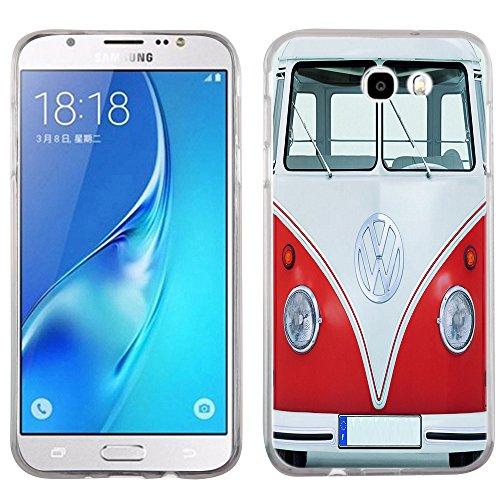 Galaxy J7 Prime case - [VW Transporter] (Crystal Clear) PaletteShield Soft Flexible TPU gel skin phone cover (fit Samsung Galaxy J7v/ J7 Perx/ J7 Sky Pro/ J7 Prime/ J727) -  J727-PaletteShield