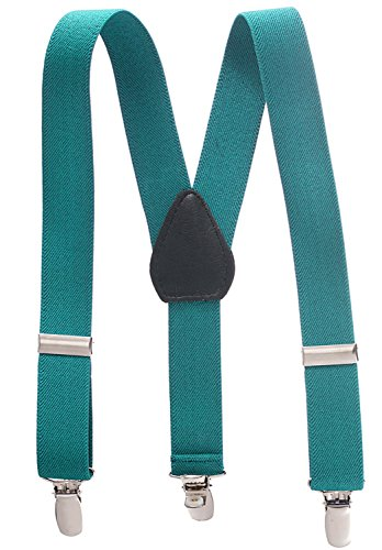 (Suspenders for Kids - 1 Inch Suspender Perfect for Tuxedo - Teal (size 26