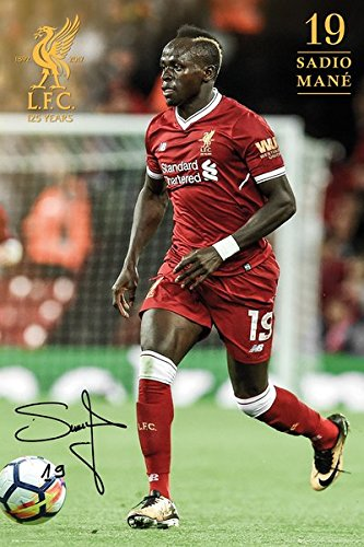 "FC Liverpool - Soccer Poster / Print (Sadio Mane - Season 2017 / 2018) (Size: 24"" x 36"") (By POSTER STOP ONLINE)"