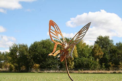 Metal Butterfly Garden Stake Small Size