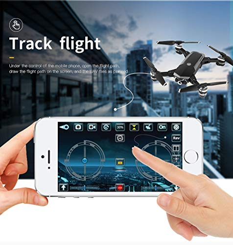Choosebuy 360 Degree Roll RC Drone with HD Camera, 0.3/2MP Wide Angle Camera FPV 2.4G/One Key Return/WiFi Control/Foldable Quadcopter/Outdoor Toy Gift for Beginners for Adults (A) by Choosebuy (Image #5)