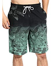 Actleis Mens Swim Trunks Board Shorts Long Quick Dry Swim Shorts with Mesh Lining us-ls17003