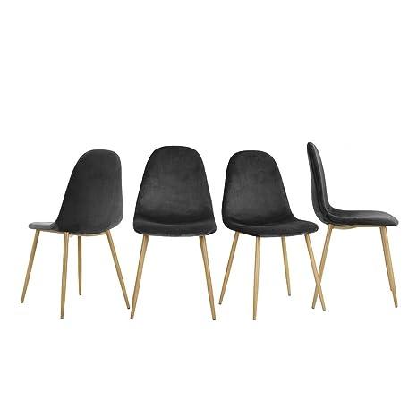 innovareds terciopelo para sillas de comedor Set de 4 ...