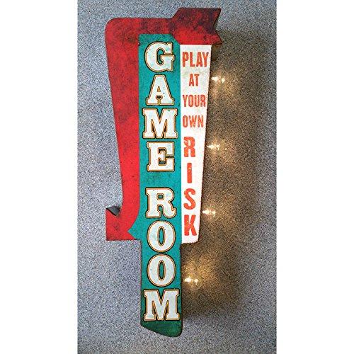 ダブルサイド マーキーサイン 「GAME ROOM」 #113964 /ウォールディスプレー/ガレージング/アメリカン雑貨/ [並行輸入品] B0786ZZC3C