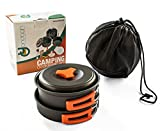 CAMPING COOKWARE SET MESS KIT - Lightweight, Compact and...
