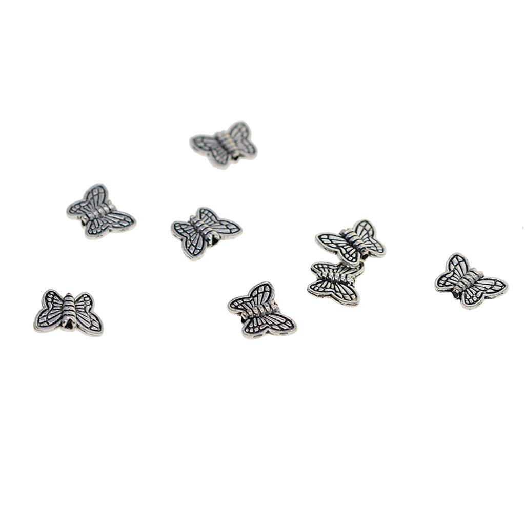 100Pcs//Lot Acrylic Beads Butterfly Flower Star Space Loose Beads Jewelry Making