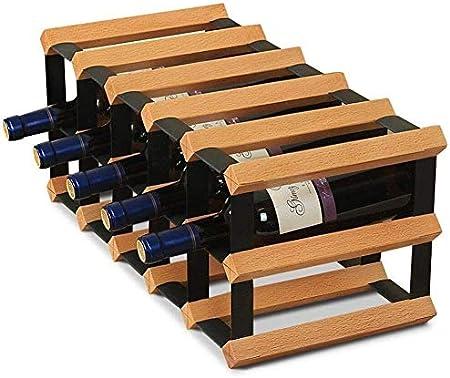 HJXSXHZ366 Estantería de Vino -10 Botellas de Vino de Mesa Rack de Vino Marco Decorativo, Libre de pie Botella de Madera Estante, for el Bar/Biblioteca/Cocina Estante de Vino pequeño