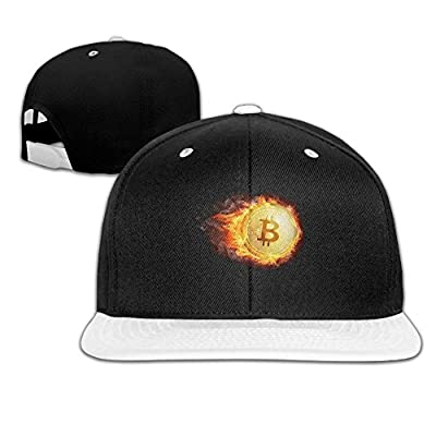 Rock Punk Trucker Hats Burn Bitcoin Unisex Baseball Caps Hip-hop Snapback White