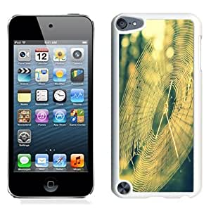 NEW Unique Custom Designed iPod Touch 5 Phone Case With Spider Web Sun Light_White Phone Case