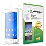 Best Full Body Sony Xperia Z3 Screen Protector. High Definition Clear Plastic Film Compatible Premium PET Invisible Phone Screen Protection HD Clear Retail Packaging