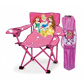 Disney Princess Folding Camp Chair For Kids With Cup Holder And Carrying  Case