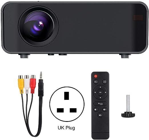 Huairdum Proyector portátil LED, WiFi Proyector HDMI 720P 110-240V ...
