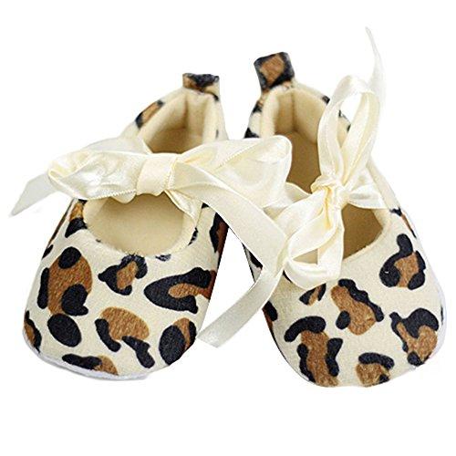 Baby Schuhe Leopardfarbe weiche Sohle Walking-Schuhe Turnschuh (12-18 month)
