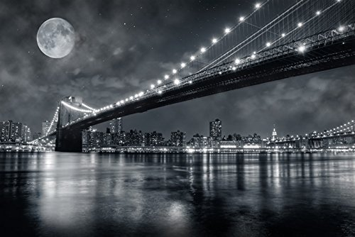 Brooklyn Bridge New York Skyline Cityscape Wall Mural Travel Photo Wallpaper available in 8 Sizes Gigantic Digital by azutura (Image #2)