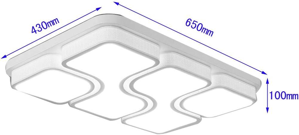 LED Deckenlampe Deckenleuchte Sparen Licht Schwarz 78W Warmwei/ß