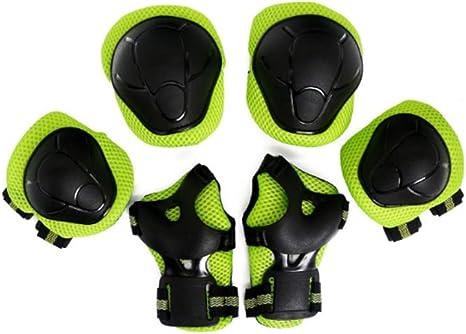 1-1 Juegos De Equipo De Protección para Niños En Bicicleta, Adecuado para Bicicletas De Montaña Patinaje En Patineta Deportiva,Green: Amazon.es: Deportes y aire libre