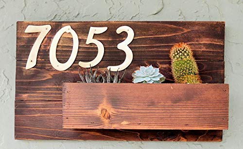 Hanging Address Planter