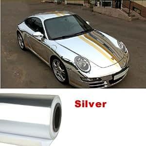 Amazon Com Nuoya001 New 12 Quot X60 Quot Silver Metallic Car