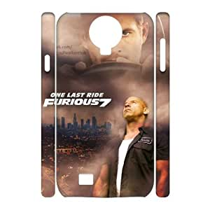 Lycase(TM) Fast and Furious 7 Personalized 3D Phone Case, Fast and Furious 7 SamSung Galaxy S4 I9500 3D Cover Case