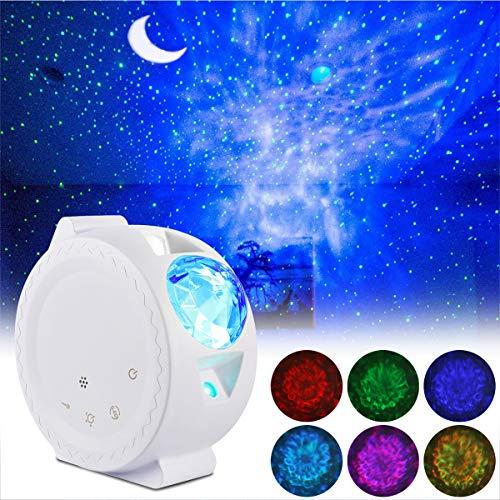 Lampe Projecteur LED, ALED LIGHT Projection LED Étoiles avec Chargement USB Projecteur Lumière de Vague de l'Eau Lampe Nuit Contrôle du Son Activé LED Veilleuse pour Décoration, Fête, Bébé