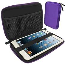 iGadgitz Purple EVA Zipper Travel Hard Case Cover Sleeve for Apple iPad Mini 1st, 2nd, 3rd & 4th Generation with Retina