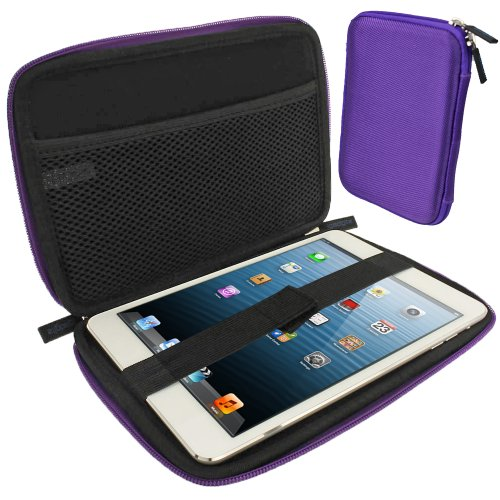 iGadgitz Purple EVA Zipper Travel Hard Case Cover Sleeve for Apple iPad Mini 1st, 2nd, 3rd & 4th Generation with Retina