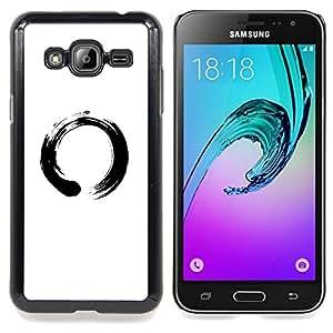 """Qstar Arte & diseño plástico duro Fundas Cover Cubre Hard Case Cover para Samsung Galaxy J3(2016) J320F J320P J320M J320Y (Símbolo chino del Círculo"""")"""