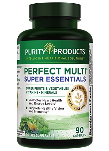 Perfect Multi Super Greens - Perfect Multi Super Essentials - Promote Healthy Day & Night Vision* Featuring Lutein, Zeaxanthin & Black Currant Extract - 90 Capsules
