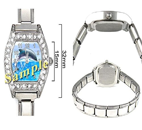 Penguin CZ Ladies Stainless Steel Italian Charms Bracelet Watch