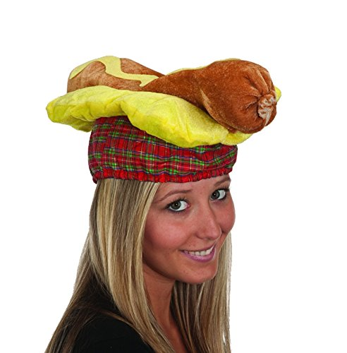 [19723 Hot Dog Hat] (Hot Dog Costume For Adults)