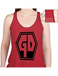 Grave Danger Womens Tank in Red