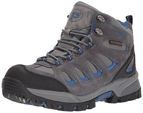 Propet Men's Ridge Walker Boot, Grey/Blue, 9.5 5E US (Blue Mens Walker)