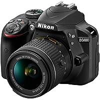 Nikon D3400 DSLR with AF-P DX NIKKOR 18-55mm f/3.5-5.6G VR Lens, Black - Bundle with Camera Bag, 32GB SDHC Card, Spare Battery, 55mm Filter Kit, Slave Flash, Cleaning Kit, Card Reader, Software Pack