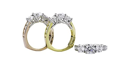 NANA 3 Stone Past Present   Future Ring with Swarovski Zirconia 2.50ctw  Silver or 10k Gold (Lucita-Euro)  Amazon.ca  Jewelry 0160be938a8d