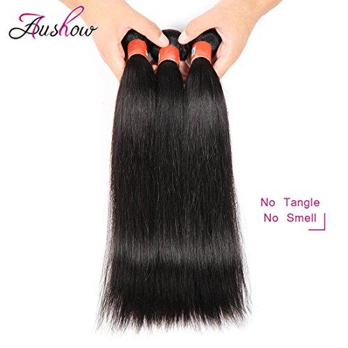 Aushow brazilian virgin straight hair weave 3 bundles unprocessed home pmusecretfo Image collections