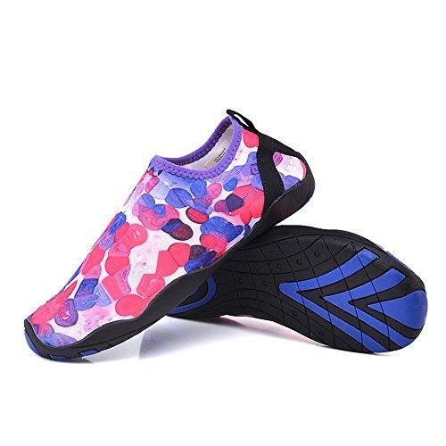 Scarpe Da Acqua Non Multifunzionali Quick-dry Pelle A Piedi Flessibile Flessibile Aqua Calze Per La Spiaggia Da Surf Surf Yoga Esercizio Rosa