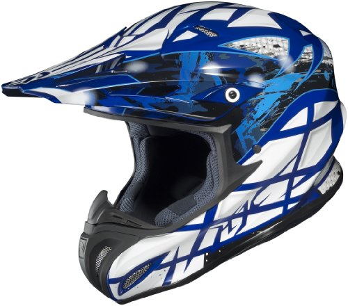 Mc2 Blue Motorcycle Helmet (HJC Helmets Tempest MC-2 Graphic RPHA X Off-Road Helmet (Blue/White, X-Small))