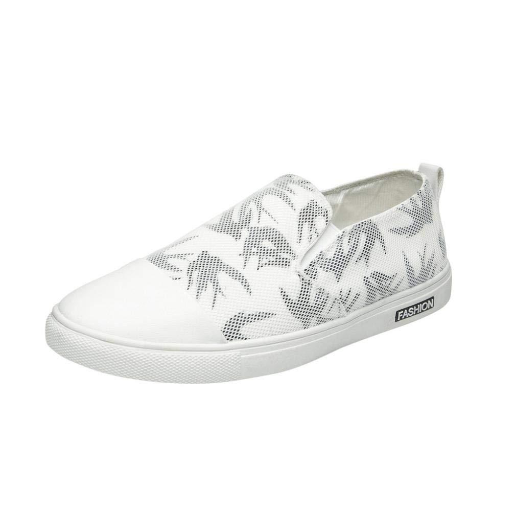 WWricotta LuckyGirls Hombre Zapatillas para Casual Estampado de Tragar Malla Moda Respirable Calzado de Planos Zapatos Informales Bambas Zapatos para ...
