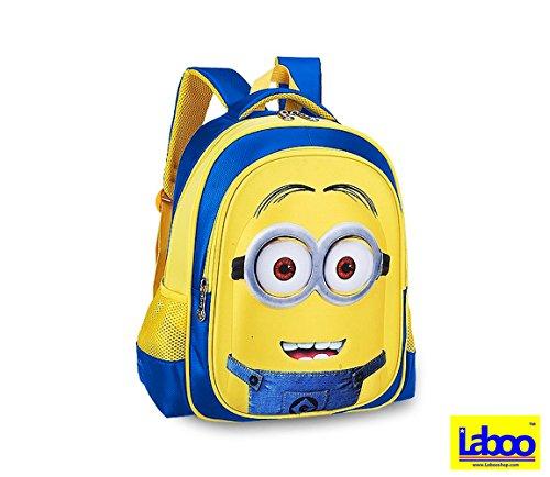 LABOO Minions Kid Backpack-3D Cartoon School Bag for Children Ages 5   Older  d146c3ec173ec