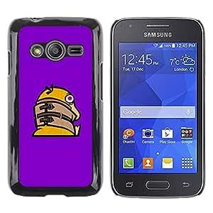 CASEX Cases / Samsung Galaxy Ace 4 G313 SM-G313F / Funny Crazy Duck # / Delgado Negro Plástico caso cubierta Shell Armor Funda Case Cover Slim Armor Defender
