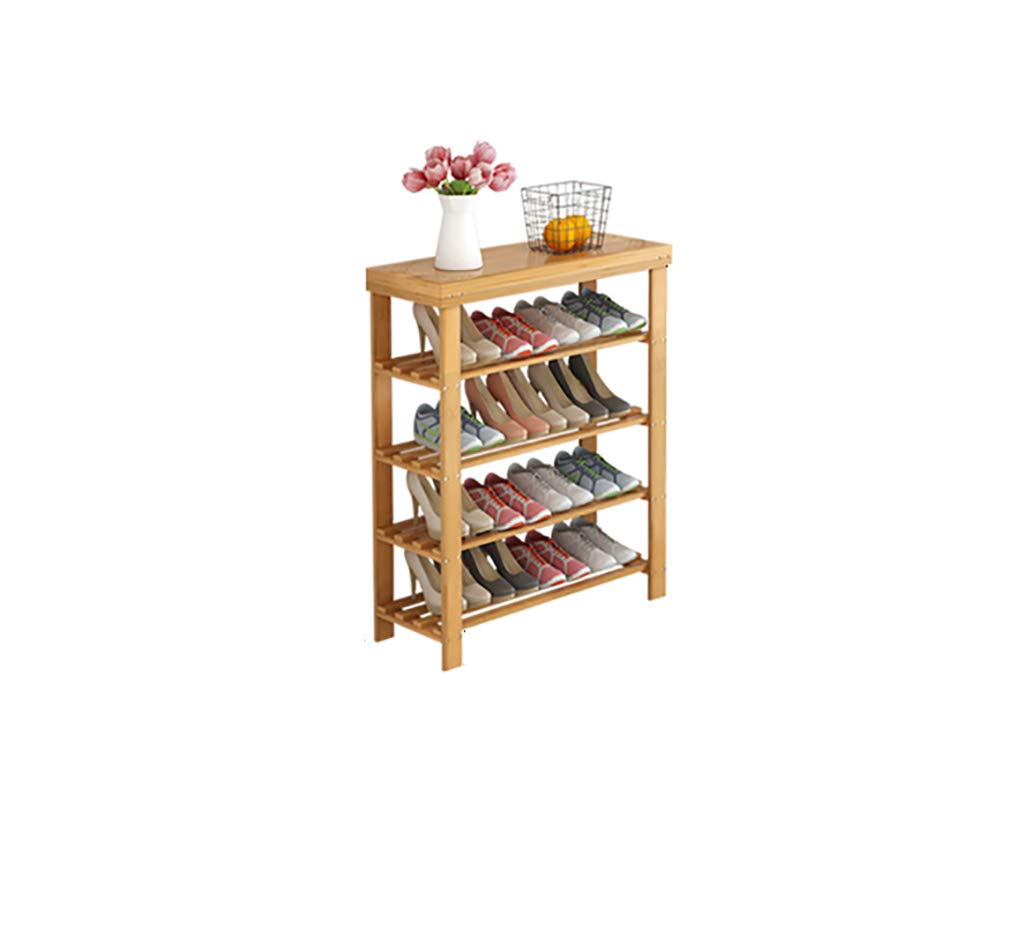 702782cm shoes Bench Organizing Rack shoes Rack Solid Wood Foyer Door 4 Layers of Natural Bamboo Storage shoes Rack (Size   70  27  82cm)