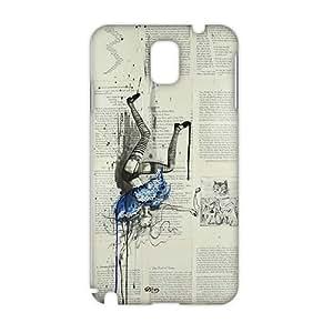 Alice in Wonderland Newspaper 3D Phone Case for Samsung note3
